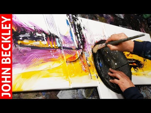 Cool Abstract Painting Demonstration With Acrylics | Aria