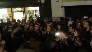 Tribute to David Bowie - Crowd singing Life On Mars? at Memorial - 11/01/2016