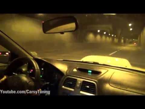 Impreza WRX STi vs Impreza WRX x2 vs Megane RS - Loud Tunnel Runs