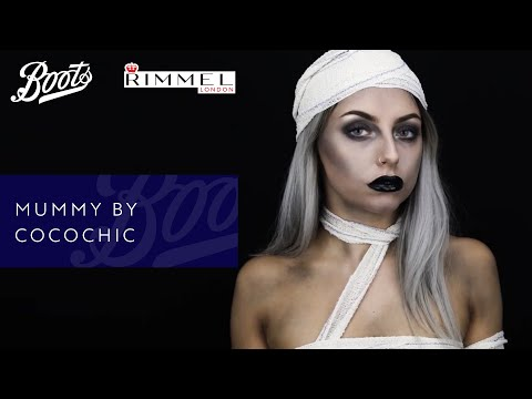 boots.com & Boots Discount Code video: Halloween Make-up Tutorial | Mummy by CocoChic | Boots X Rimmel | Boots UK
