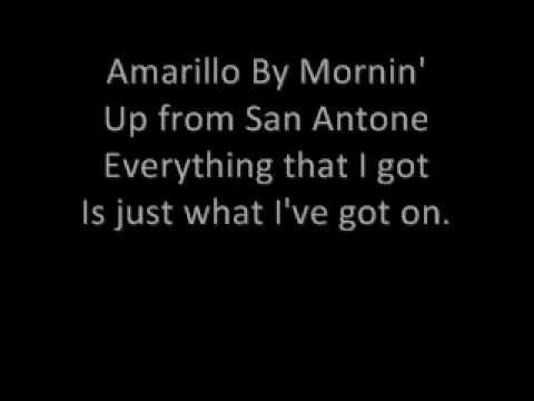 George Strait - Amarillo by Morning Lyrics Chords - Chordify