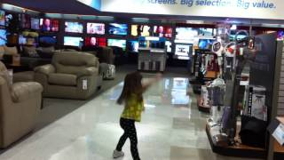 Erin Dancing to Hey Mama at Hhgregg (May 2016)