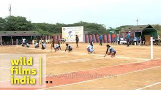 Kho Kho players in full action during the final match