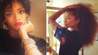 Celebrities Show Off Their Natural Hair! (Zendaya, Rihanna, Nicki Minaj, Beyonce, etc.) width=