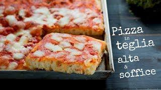PIZZA IN TEGLIA ALTA E SOFFICE DI BENEDETTA - Ricetta Facile Senza Impasto