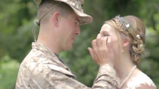 Stunning Video - Marine Surpises His Sister on Her Wedding Day