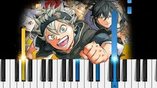 Black Clover Ending - Aoi Honoo - Piano Tutorial / Piano Cover