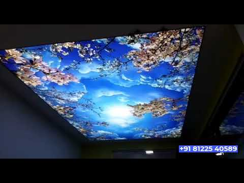 Stretch False Ceiling Decor Chennai |  Bangalore | Kerala | Coimbatore | India +91 81225 40589 (WA)
