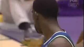 '98: Kobe posterizes Shawn Bradley after Michael Finley's emphatic dunk also ft. Shaq, Eddie Jones