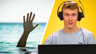 Lifeguards Play Drowning Simulator