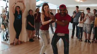 Armando Kizomba Paixao & Dalia on Semba Workshop in Klaipeda (Lithuania)