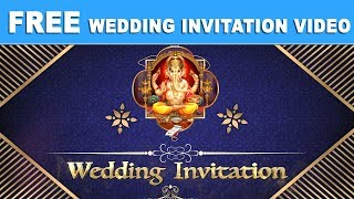 Free Traditional Hindu Wedding Invitation Video | Indian Royal Wedding Invitation Video 2018
