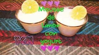 Mousse de Limón con Yogurt/Mon♥