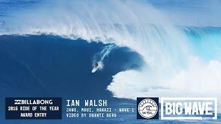 Ian Walsh at Jaws 1 - 2016 Billabong Ride of the Year Entry - WSL Big Wave Awards