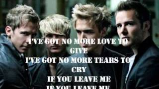 Mcfly-Nowhere left to run (music) Lyrics