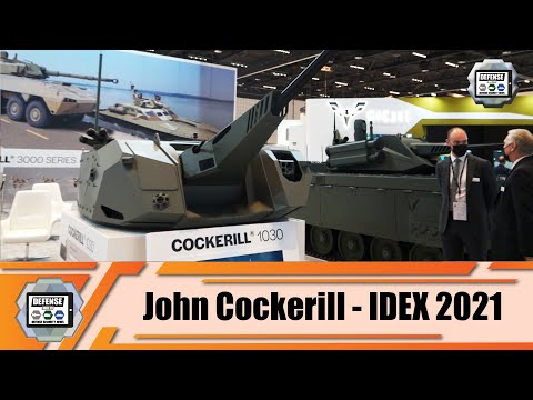 IDEX 2021 Belgian company John Cockerill unveils its Cockerill 1030 and CLWS turrets Abu Dhabi UAE