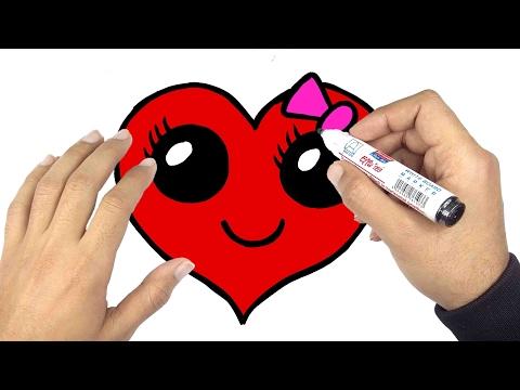تعليم الرسم | كيف ترسم قلب جميل بمناسبة عيد الحب الفلانتين valentine day