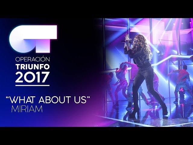 Vídeo de Miriam Rodríguez cantando What About Us