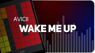 Playing WAKE ME UP | AVICII on SUPER PADS LIGHTS - Launchpad - KIT SLEEPING