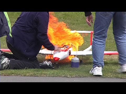 Jet powered RC model planes - thrills and spills!