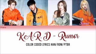K.A.R.D - Rumor LEGENDADO (Color Coded HAN/ROM/PT-BR)