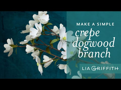 How To Make A Crepe Paper Dogwood Branch