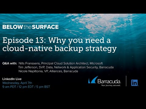 Below the Surface - Episode 13 - Why You Need a Cloud-Native Backup Strategy