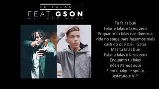 WAZE - Tu Falas ft. Gson (Wet Bed Gang) [Letra]