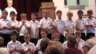 PAC Boys singing Lean On Me for Grannies Day