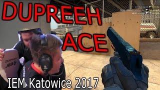 CS:GO - dupreeh INSANE Deagle ACE! @IEM Katowice 2017 (CHAT REACTIONS)