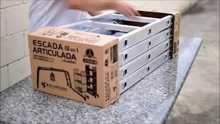 Escada Articulada em Alumínio Botafogo  - A Mega Loja