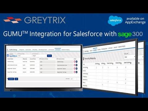 Webcast - GUMU™ for Salesforce   Sage 300 Integration