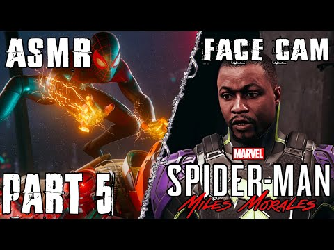 ASMR GAMING   Marvel s Spider Man: Miles Morales   Walkthrough Part 5   Finding The Truth ~ Face Cam