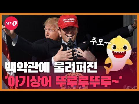 """""""귀여운 뚜루루뚜루~♬""""백악관까지 접수한 아기상어(?..."""