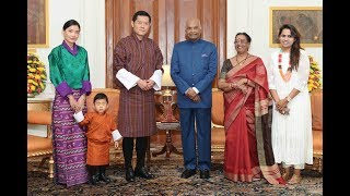 King of Bhutan, along with the Queen and Royal Prince, called on President Kovind