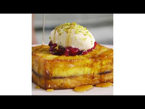Nutella Filled Brioche French Toast by Café Gray Deluxe