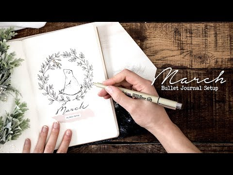 Plan with me   March 2018 (w/ MyLifeinaBullet, Jenny Journals, & Nicole's Journal)