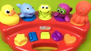 Sea Animals For Babies Learn Colors  Pop Up Toys - Videos For Kids - Magic Toys