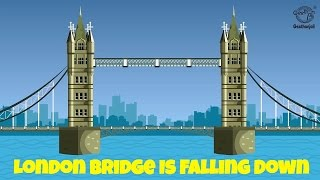 London Bridge is Falling Down - Nursery Rhymes - Kids Songs - Instrumental - Sing Along