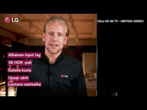 LG UM7600 - UHD TV, jossa on voimaa ja herkkyyttä