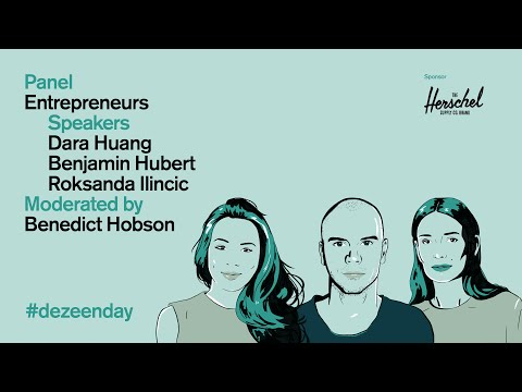 Watch the video of the discussion on how to be an entrepreneur at Dezeen Day | Dezeen Day 2019