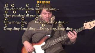 Wonderful Christmastime (Paul McCartney) Bass Guitar Cover Lesson in G with Chords/Lyrics