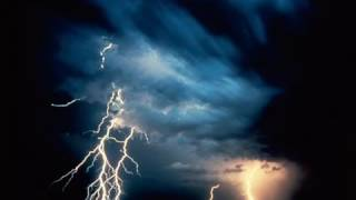 Most scary loud thunderstorm sound ever with lighting strikes