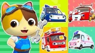 Five Little Cars Got Hurt   Doctor Cartoon, Fire Truck   Kids Songs   Kids Cartoon   BabyBus