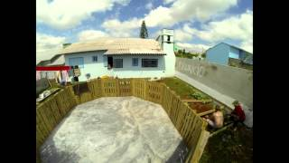 Construção piscina de palete