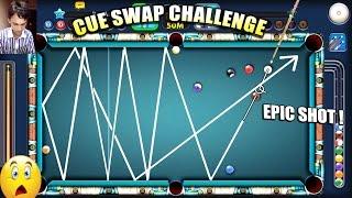 8 Ball Pool- BEST SHOT HAS BEEN MADE..watch it | CUE SWAP CHALLENGE