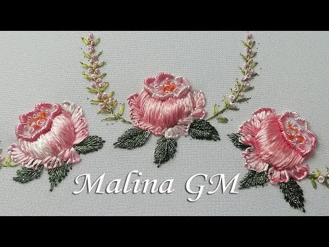 Silk 3D roses | hand embroidery | magic stitches