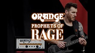 Tim Commerford of Prophets of Rage and Orange Amps
