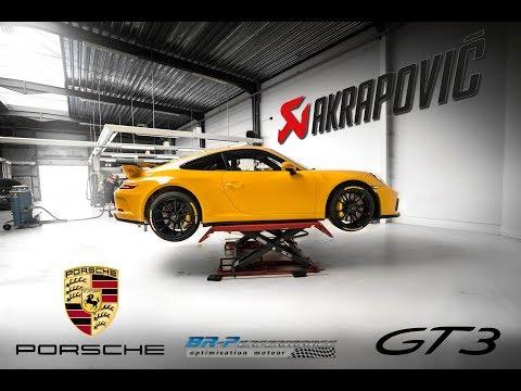 Porsche 991.2 GT3 Akrapovic installation timelapse by BR-Performance