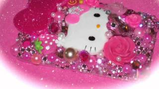 hello kitty bling deco cell phone cases